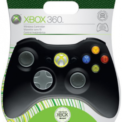 Xbox 360 Elite - Wireless Controller (Black) Games Accessories