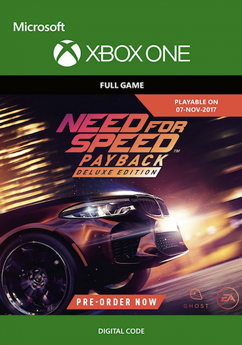 pre order need for speed payback deluxe edition xbox one digital download or using. Black Bedroom Furniture Sets. Home Design Ideas