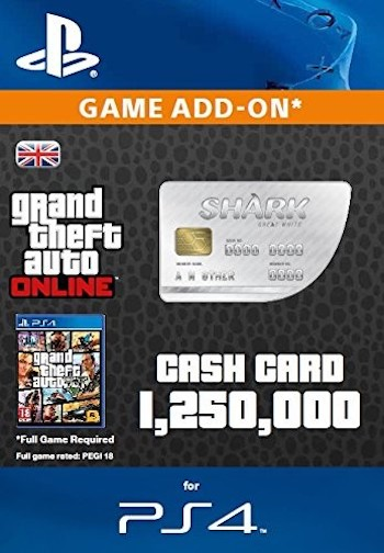 Card Games For Ps4 : Grand theft auto online gta v great white shark cash