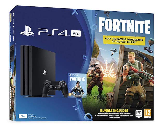 PlayStation 4 Pro Console 1TB with Fortnite Royal Bomber Pack